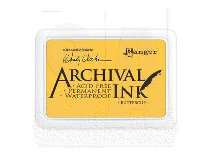 wendy vecchi archival ink pad buttercup aid45632